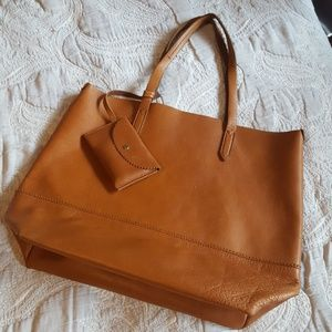 J. Crew Brown Downing Leather Tote Bag